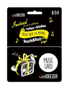 deezer giftcard 50$