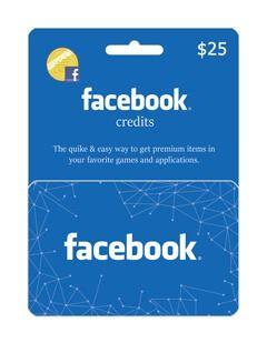 گیفت کارت فیسبوک 25 دلاری