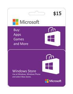 گیفت کارت مایکروسافت و ایکس باکس 15 دلاری
