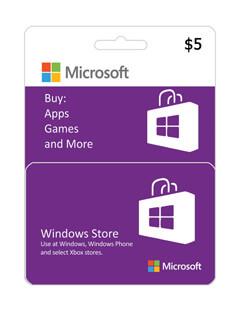 گیفت کارت مایکروسافت و ایکس باکس 5 دلاری