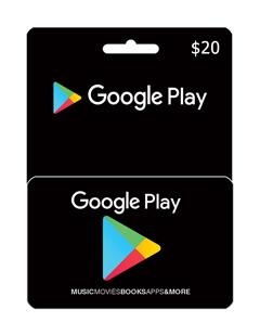 گیفت کارت 20 دلاری گوگل پلی