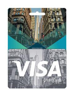 گیفت کارت ویزا کارت 25 دلاری